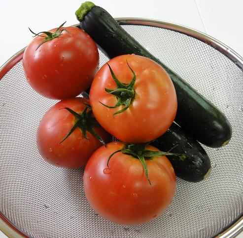 トマトズッキーニ洗い上がり