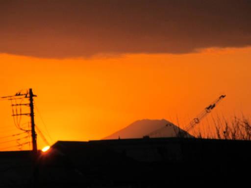 20111218・中野めぐり空22・夕陽1