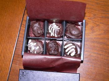 市田柿のチョコレート
