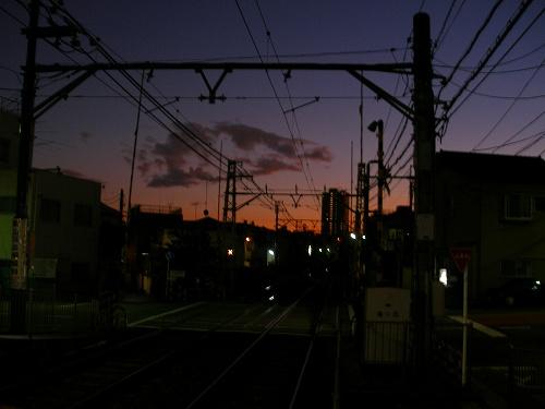 07123007都電沿線の夕焼け