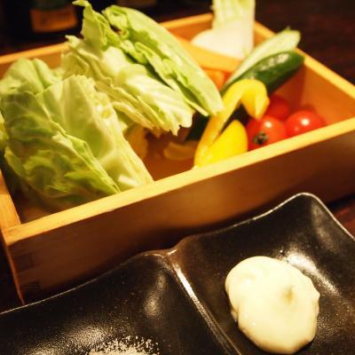 野菜の桶盛り