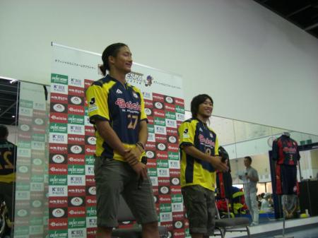 都倉選手と後藤選手