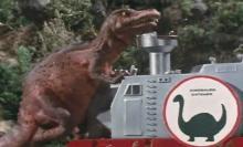 ティクラのブログ-アロサウルスと力比べ