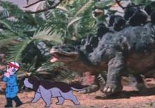 ティクラのブログ-ステゴサウルスと友達になる