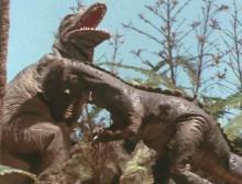2~2.5次元空間探訪日記-ティラノサウルスとトロエドン