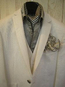 カラーシャツ白