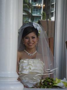 花嫁でなければないこの笑顔♪