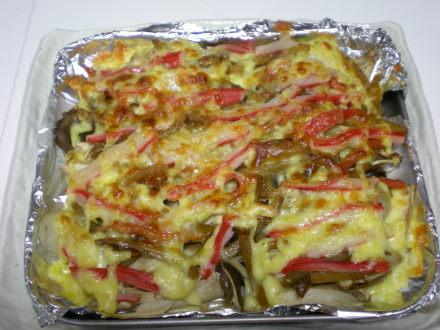 きんぴらごぼうのチーズ焼き