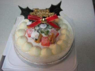 12月25日ワンコケーキ