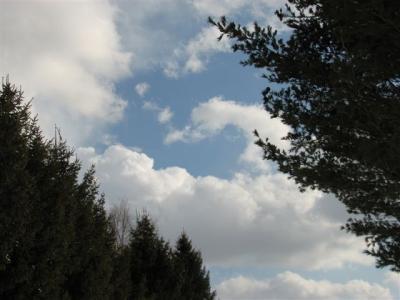 3月11日の空、晴れ