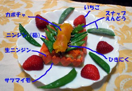 野菜けーき。今回はオカラはなしね。