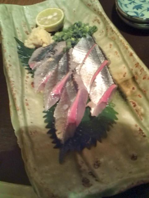 秋刀魚のお造り