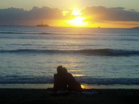 クヒオビーチ・サンセット