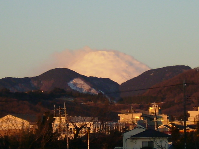 朝日の白富士005