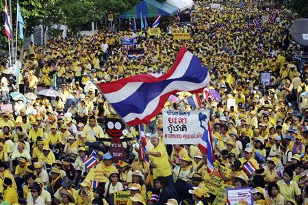 タイ反政府デモ1