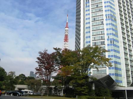 東京タワーの隣のホテル