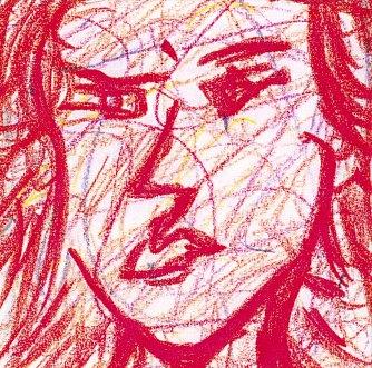 赤い自画像