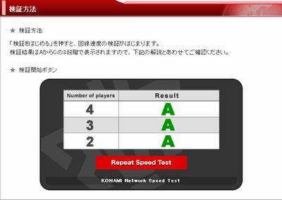 回線速度検証ツール テスト結果