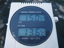 22日の水温気温
