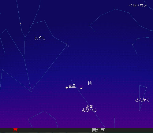 2010 4 16 夕暮れに空を見上げて星図