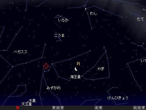 2010 5 7 みずがめ座η流星群星図