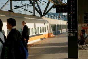 帰りの新幹線。