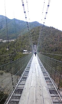 奈良 谷瀬吊り橋