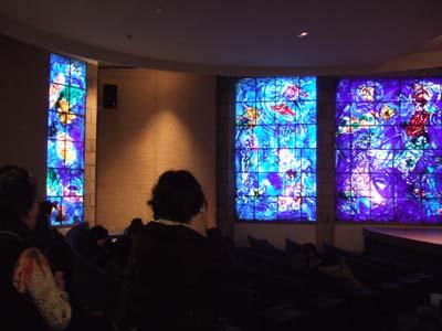 シャガール美術館ステンドグラス