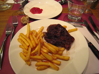 ニースの晩ご飯2固い肉