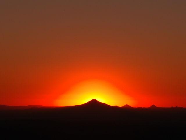 Mt Tamborin sunset 2009