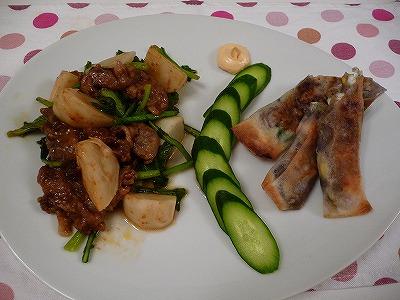 かぶと豚バラ肉の中華蒸し&さつま芋春巻き.jpg