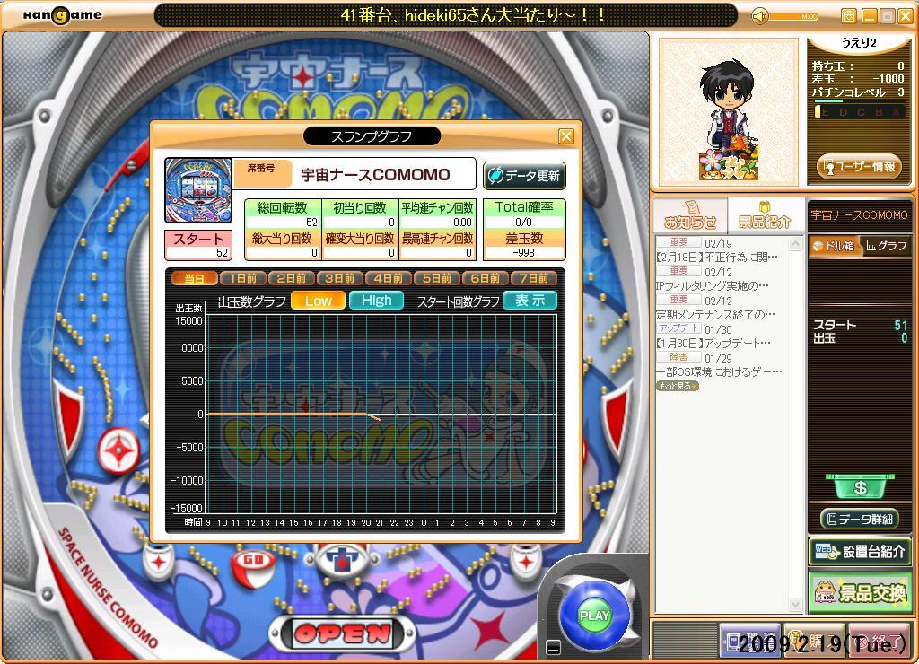 パチンコDX 09.2.19