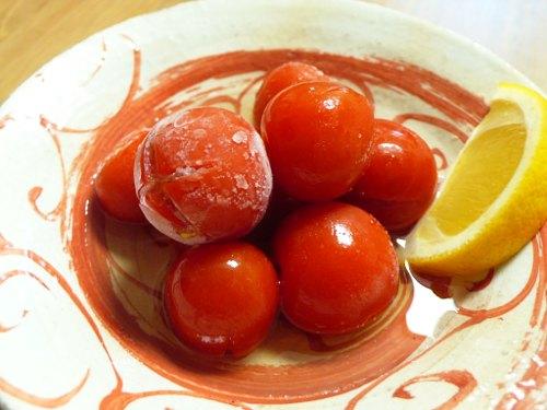 プチトマトのアイス甘酢漬け