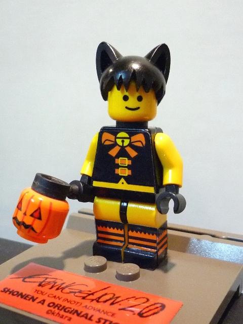 LEGOミニフィグ改造ハロウィンシンジ斜めから
