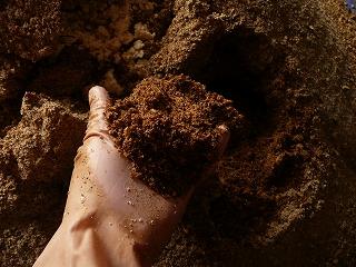 ボカシ肥料の内側