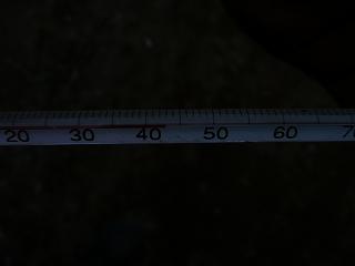 二次発酵開始初日のボカシ肥料の温度(午後6時)