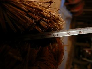 二次発酵開始2日目のボカシ肥料の温度(午前8時)