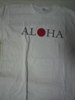 何気にALOHAの『O』の字が日の丸です。