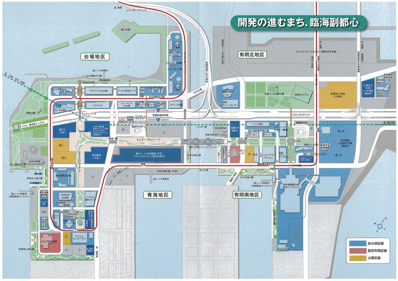 臨海副都心地図