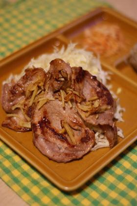 豚肉のしょうが焼きプレート