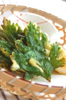 セロリの葉の天ぷら