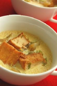 白菜と厚揚げのボリューム茶碗蒸し