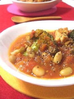 ブロッコリーと鶏肉のトマト煮込み