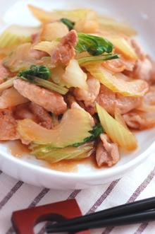 セロリと豚肉のエスニック炒め