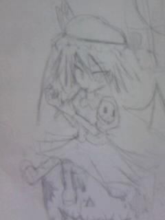 レミリア鉛筆画~チョコ好き?~