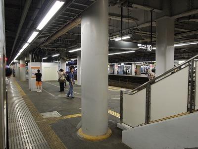品川駅9番線に到着