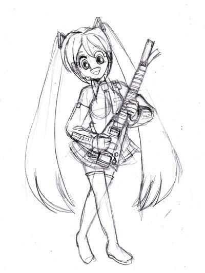 ミク&ネギギター