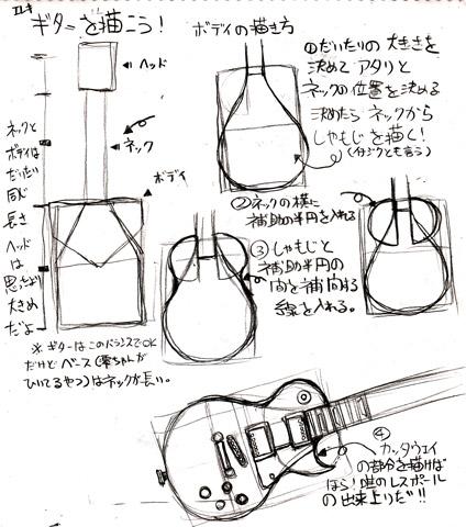 ギター描き方まとめ1