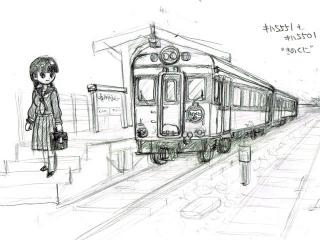列車のある風景~キハ5551+5501 きのくに~