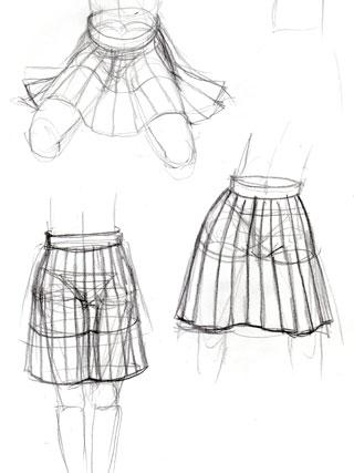 スカート練習